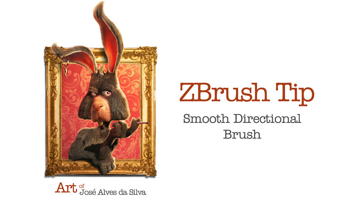ZBrush Tips – Smooth Directional Brush – Art of Jose Alves da Silva