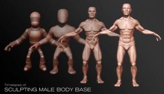 Tutorial Male body timelapse